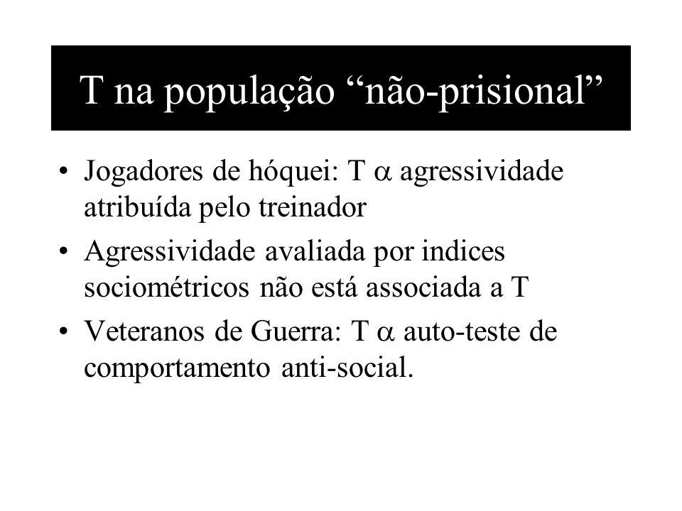 T na população não-prisional