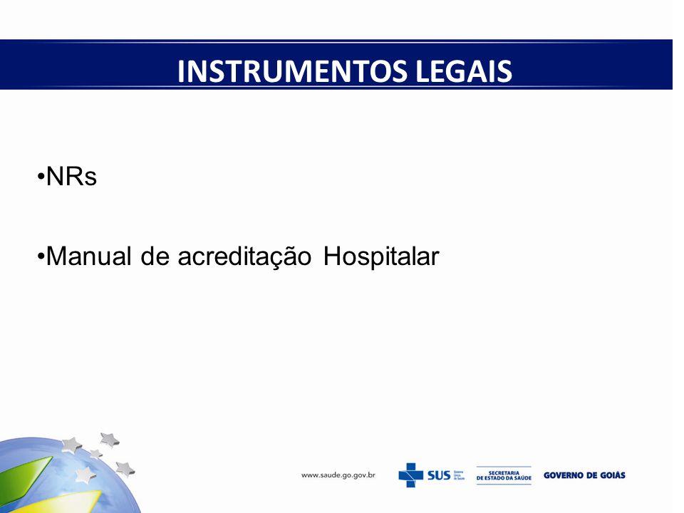 INSTRUMENTOS LEGAIS NRs Manual de acreditação Hospitalar 18