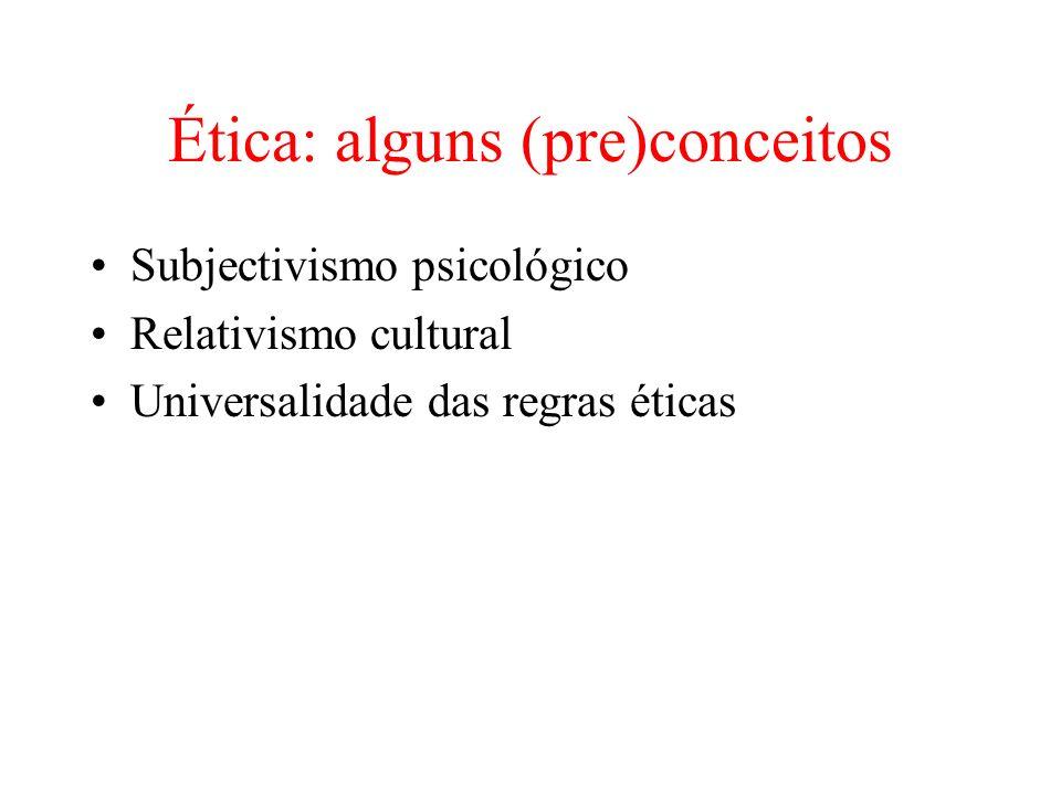 Ética: alguns (pre)conceitos