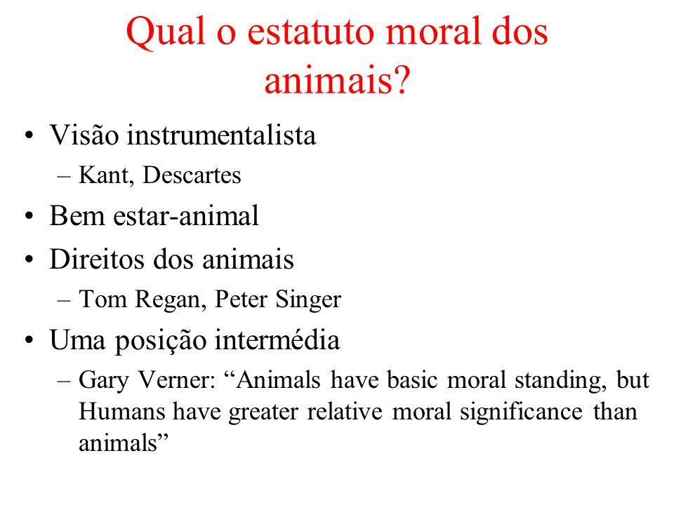Qual o estatuto moral dos animais