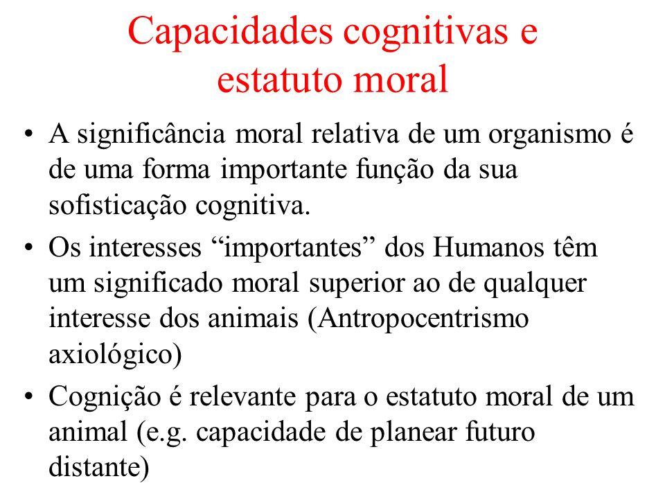 Capacidades cognitivas e estatuto moral