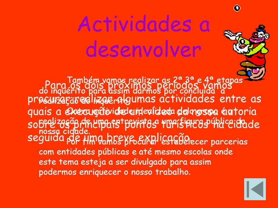 Actividades a desenvolver