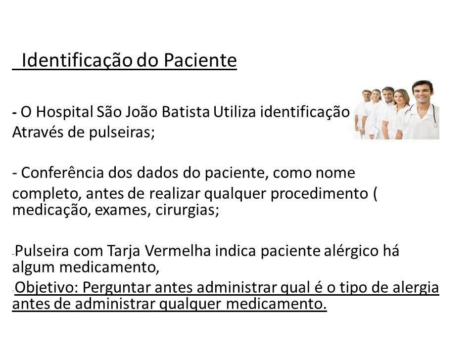 Identificação do Paciente