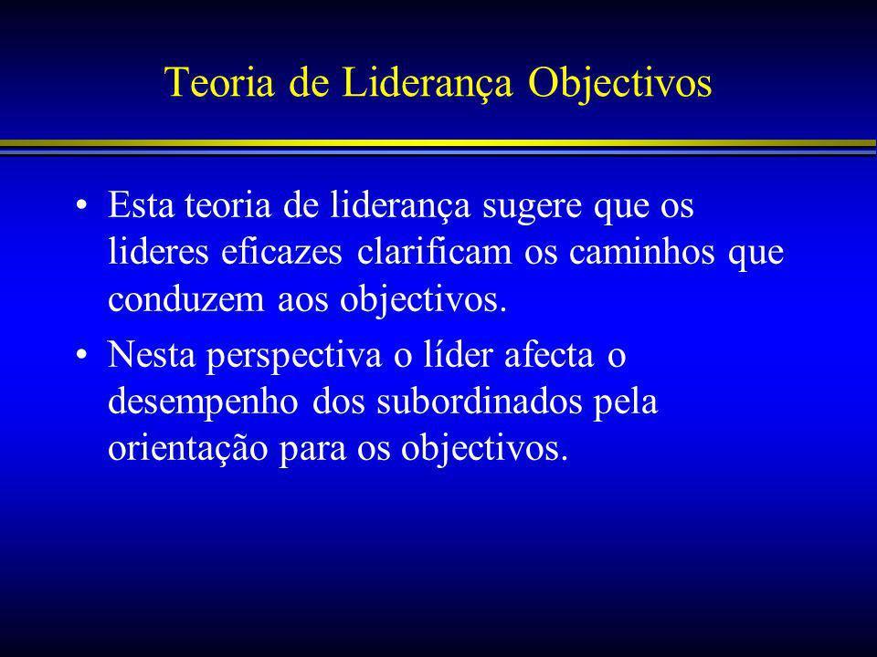 Teoria de Liderança Objectivos