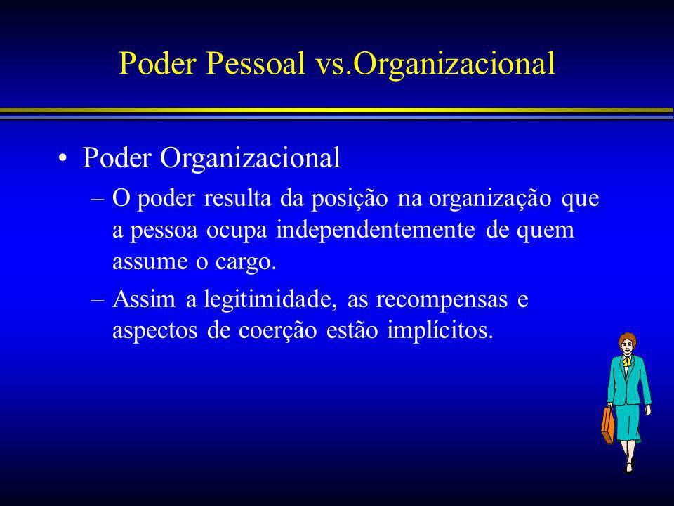 Poder Pessoal vs.Organizacional