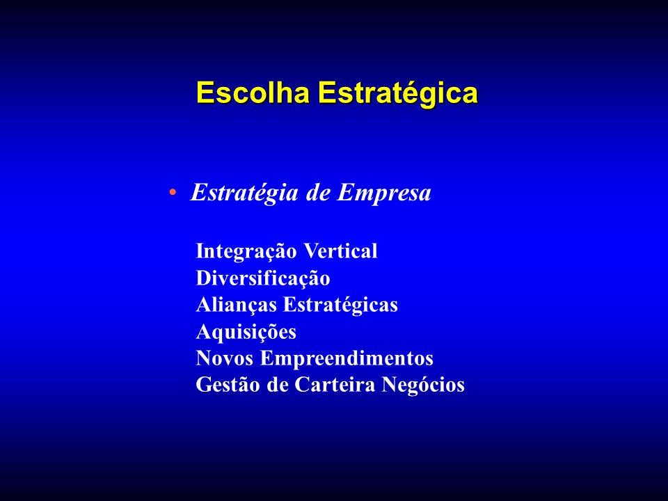 Escolha Estratégica Estratégia de Empresa Integração Vertical