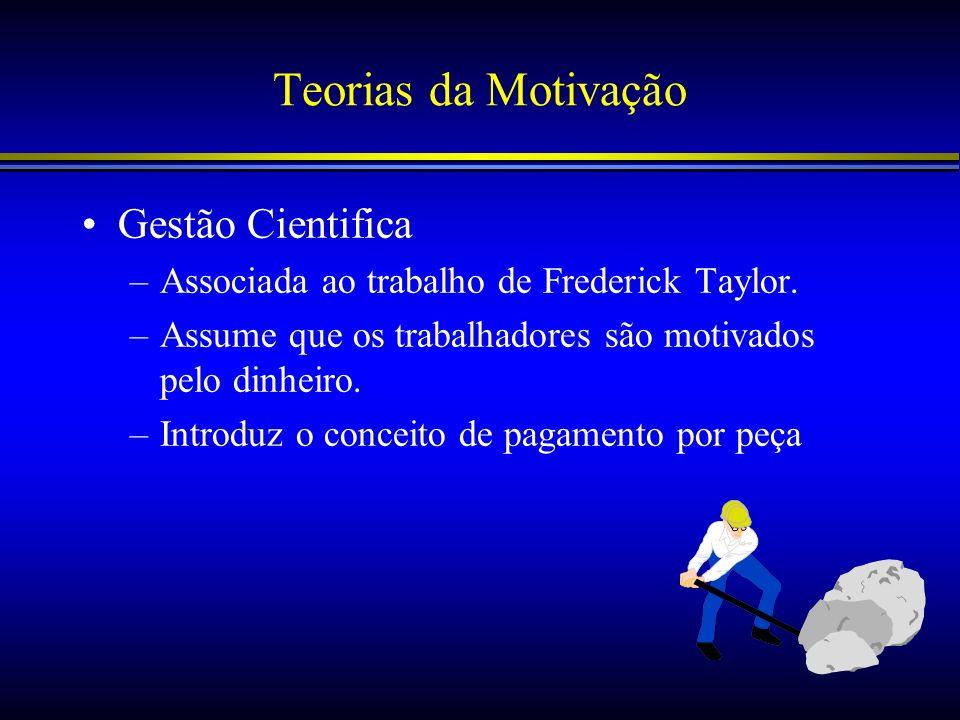 Teorias da Motivação Gestão Cientifica