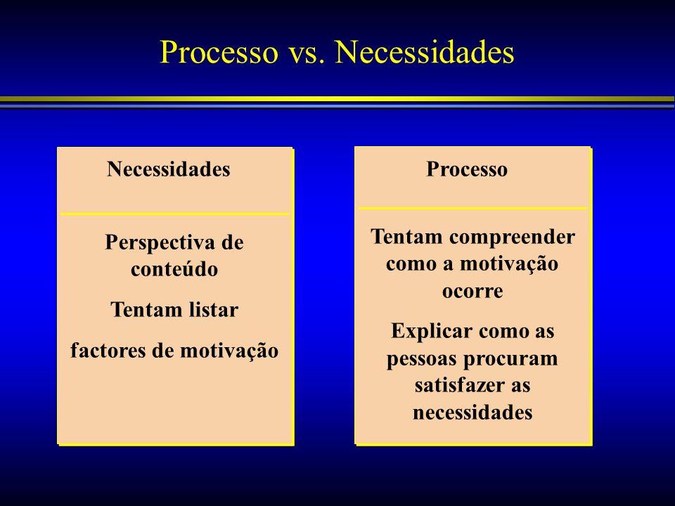 Processo vs. Necessidades