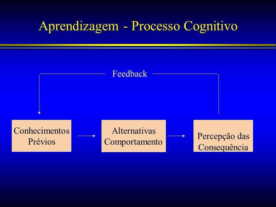 Aprendizagem - Processo Cognitivo