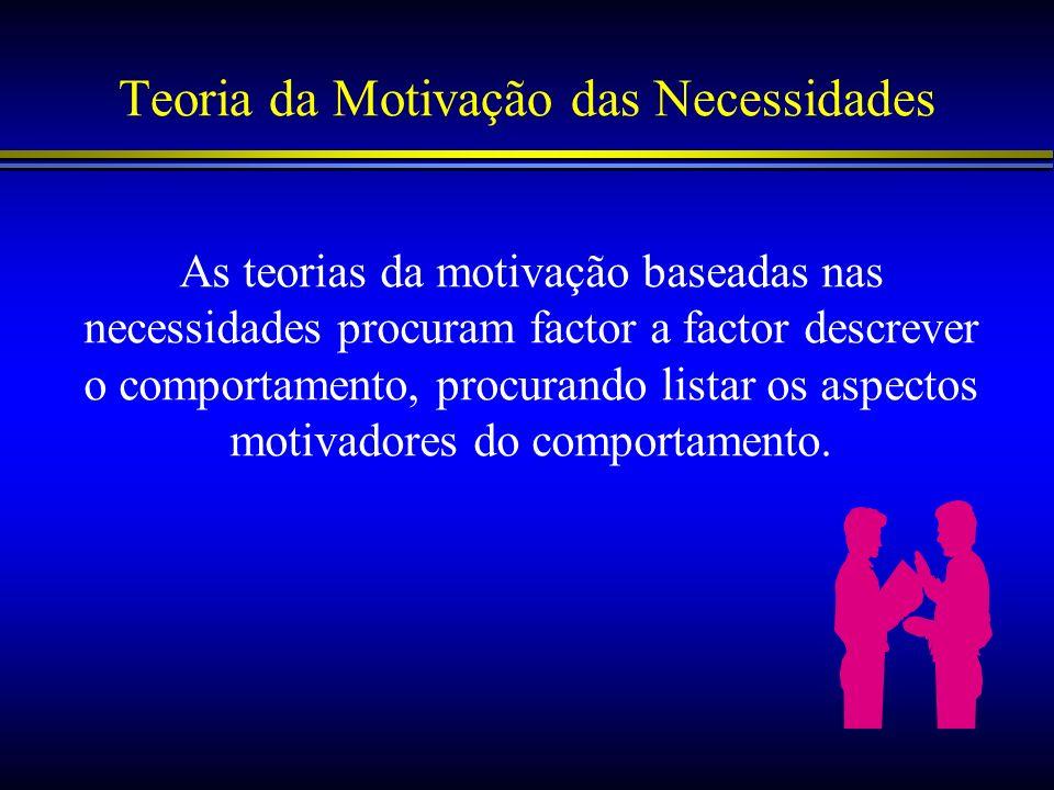 Teoria da Motivação das Necessidades
