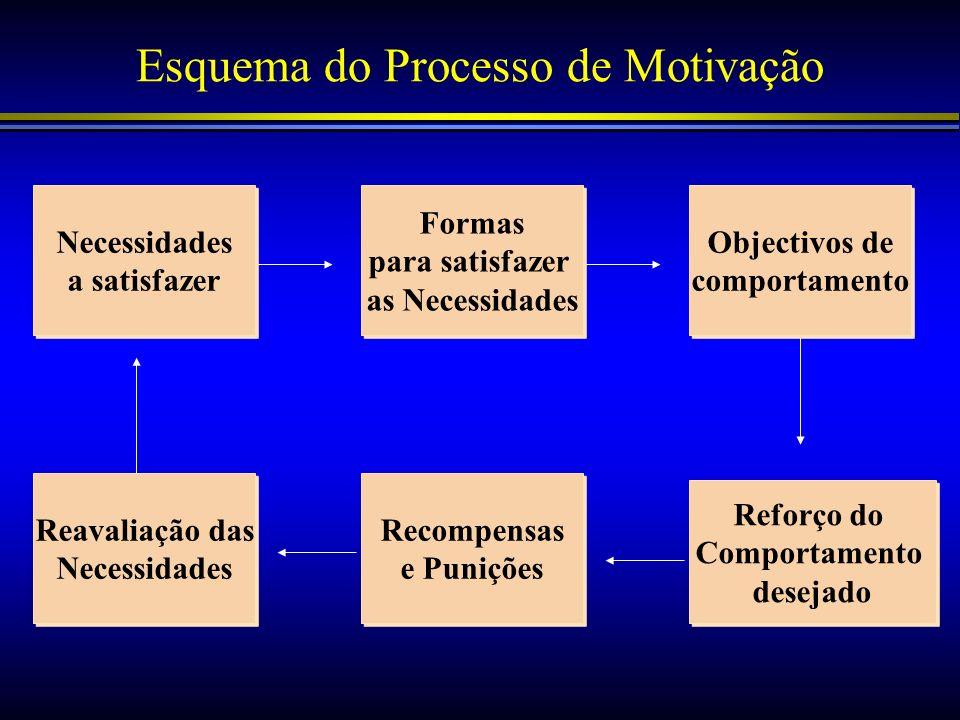 Esquema do Processo de Motivação