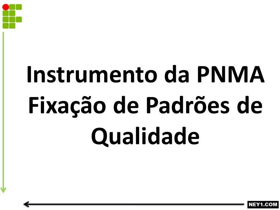 Instrumento da PNMA Fixação de Padrões de Qualidade