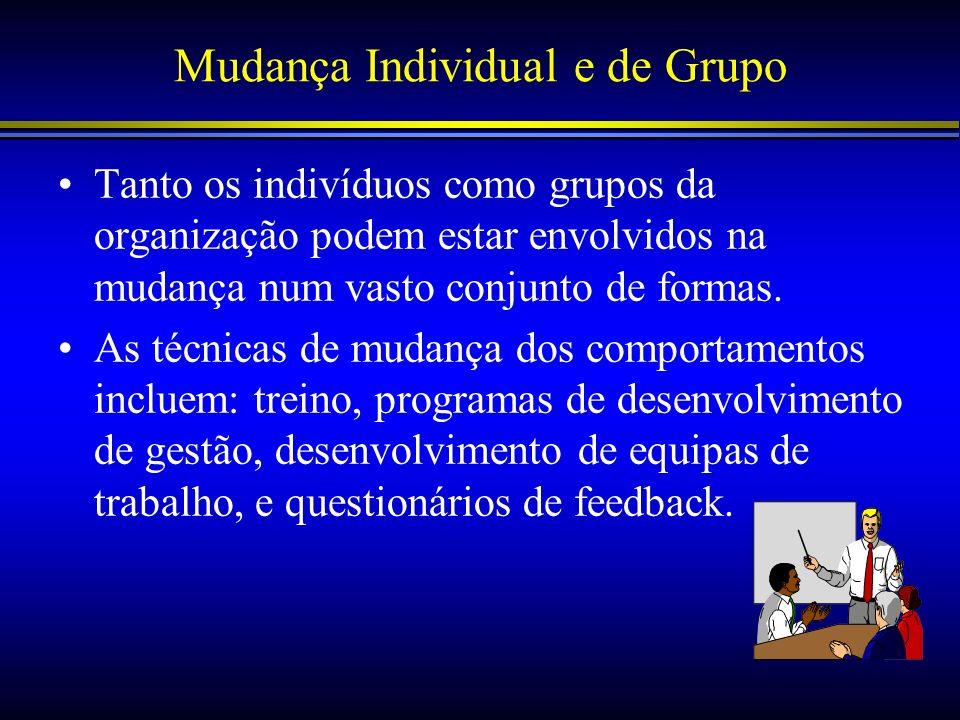 Mudança Individual e de Grupo