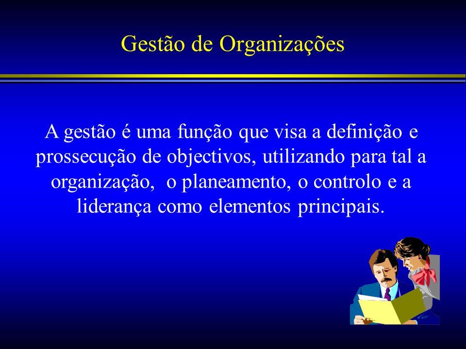 Gestão de Organizações