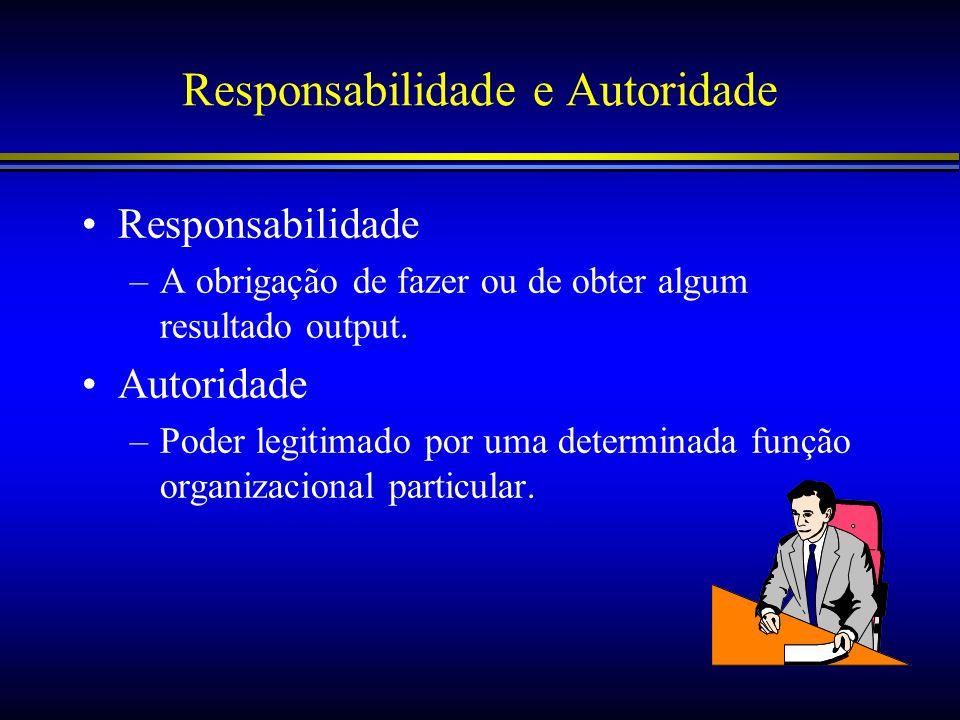 Responsabilidade e Autoridade