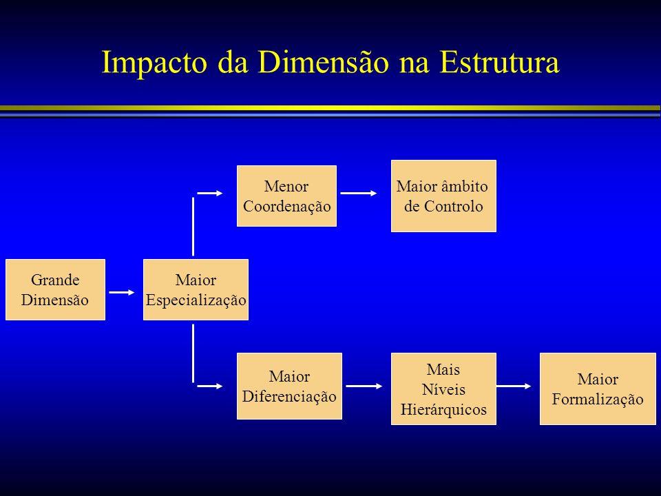 Impacto da Dimensão na Estrutura
