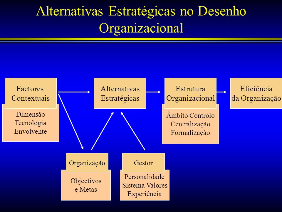 Alternativas Estratégicas no Desenho Organizacional