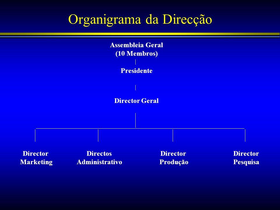 Organigrama da Direcção