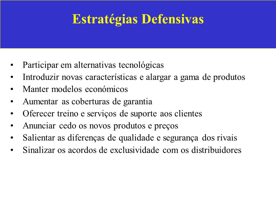 Estratégias Defensivas