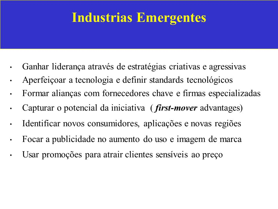 Industrias Emergentes