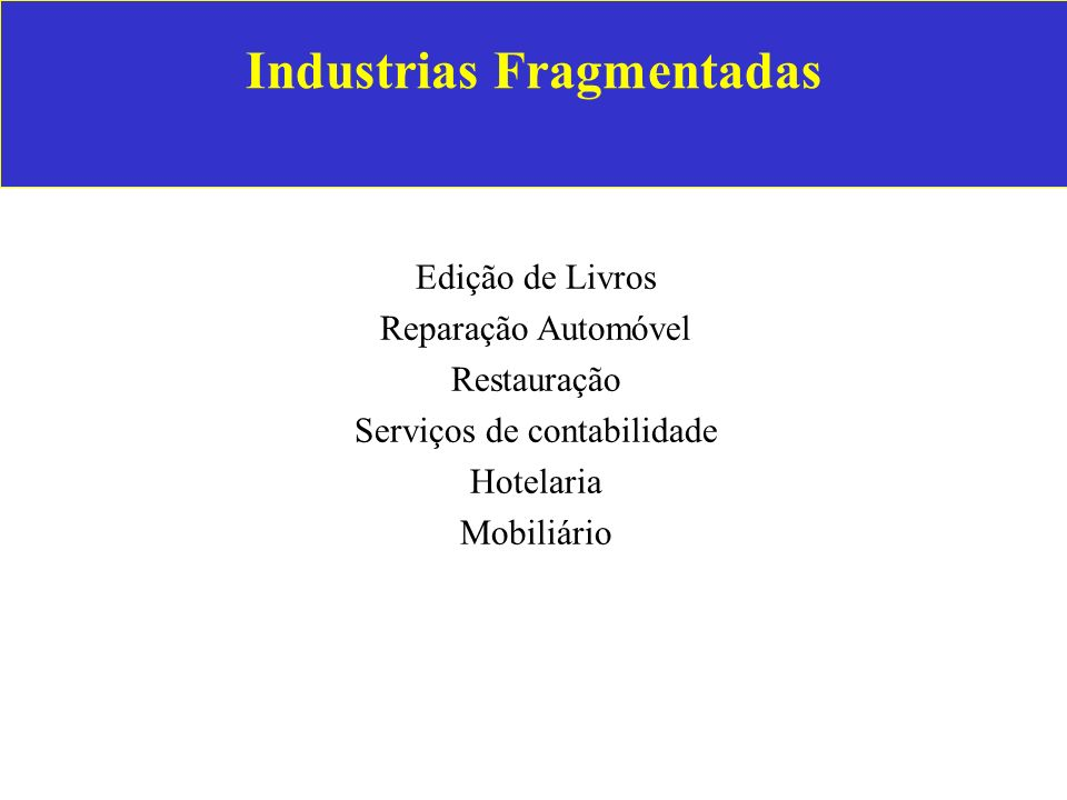 Industrias Fragmentadas