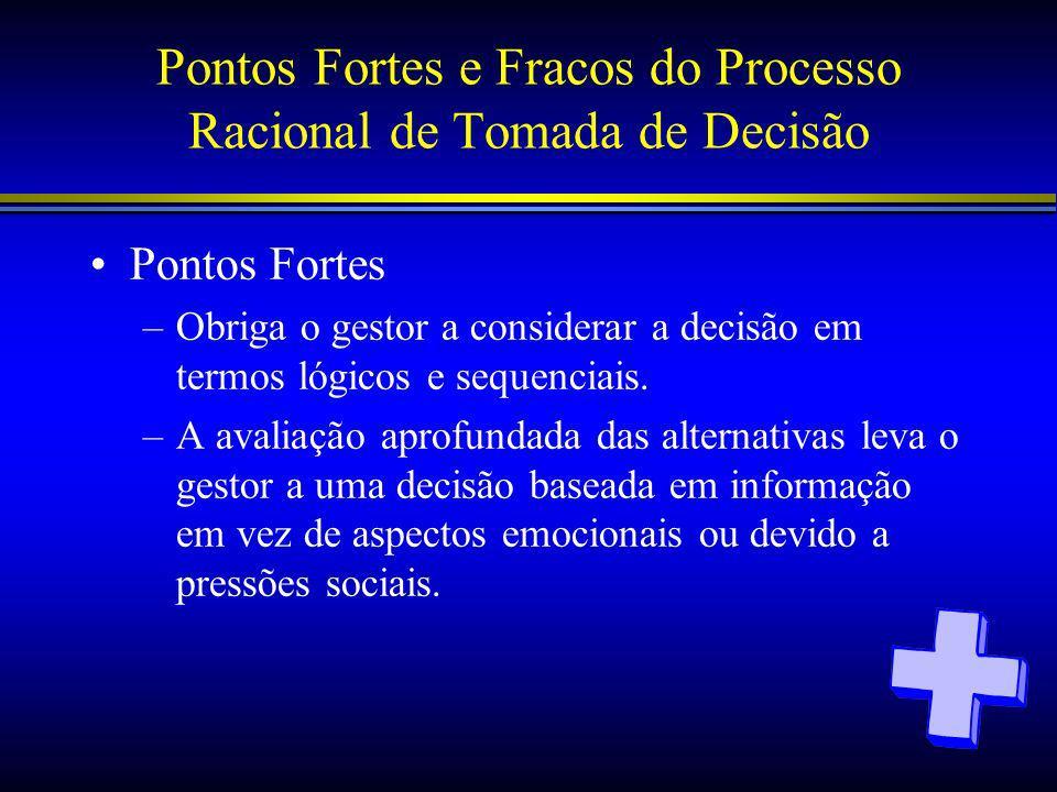 Pontos Fortes e Fracos do Processo Racional de Tomada de Decisão