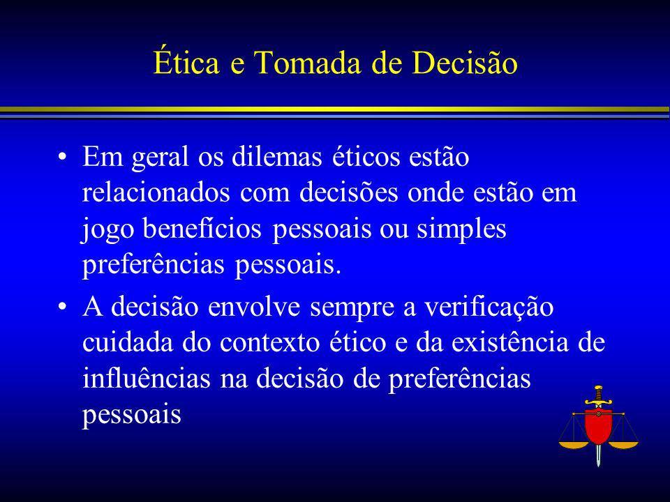 Ética e Tomada de Decisão