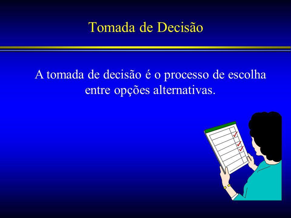 A tomada de decisão é o processo de escolha entre opções alternativas.