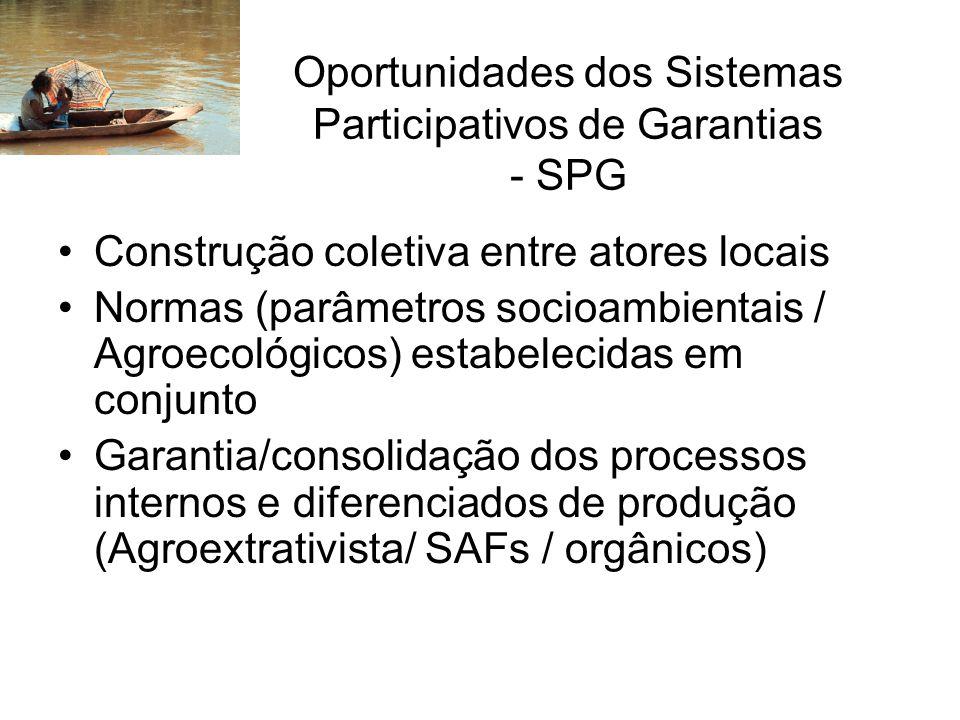 Oportunidades dos Sistemas Participativos de Garantias - SPG