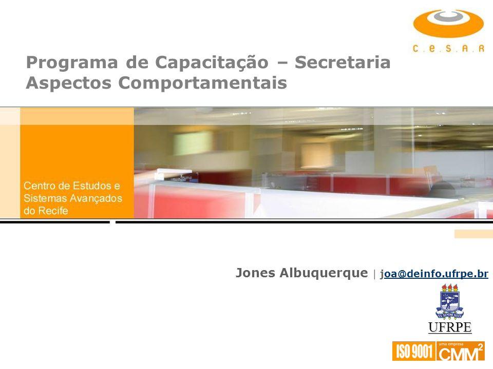 Programa de Capacitação – Secretaria Aspectos Comportamentais