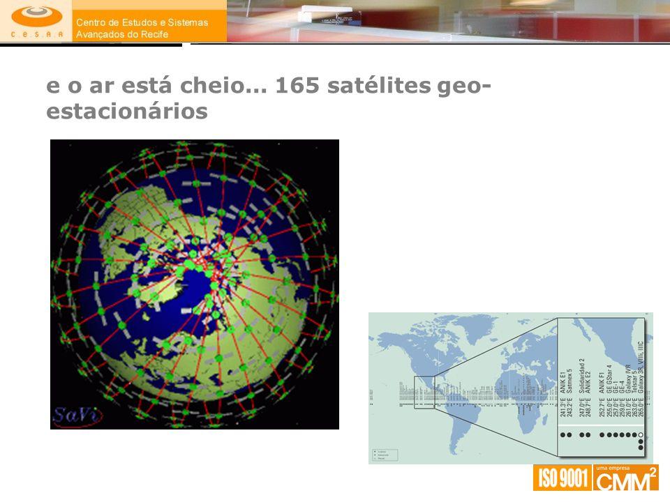 e o ar está cheio... 165 satélites geo-estacionários