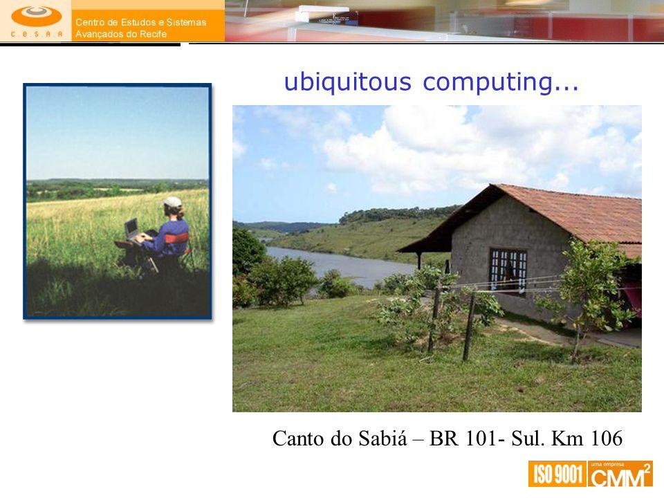 ubiquitous computing... Canto do Sabiá – BR 101- Sul. Km 106