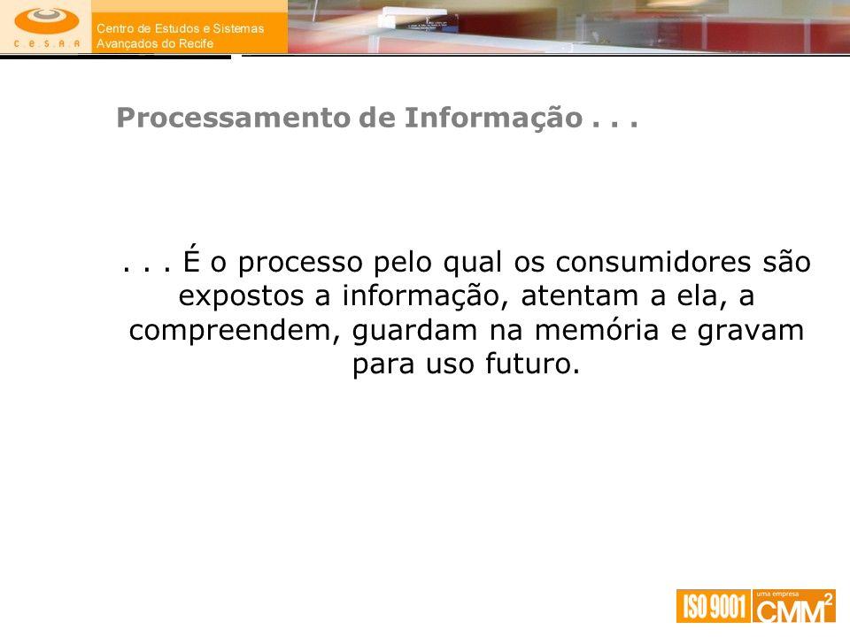 Processamento de Informação . . .