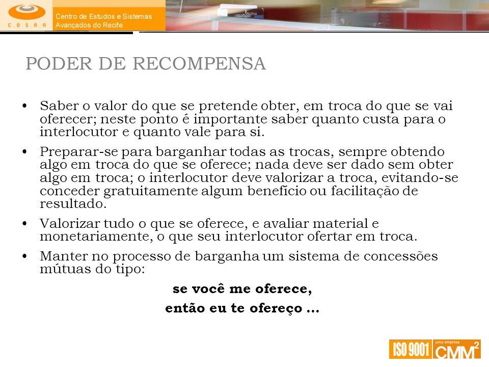 PODER DE RECOMPENSA