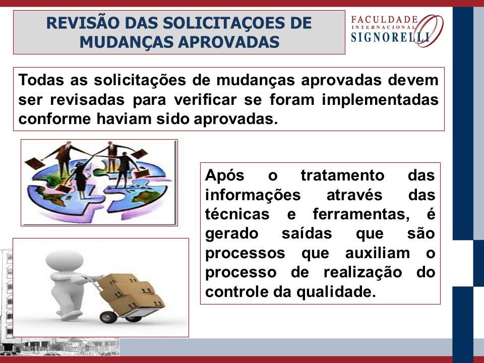 REVISÃO DAS SOLICITAÇOES DE MUDANÇAS APROVADAS
