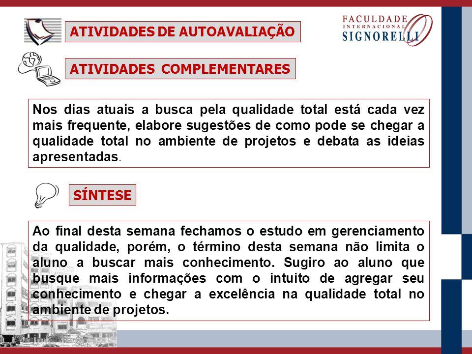ATIVIDADES DE AUTOAVALIAÇÃO