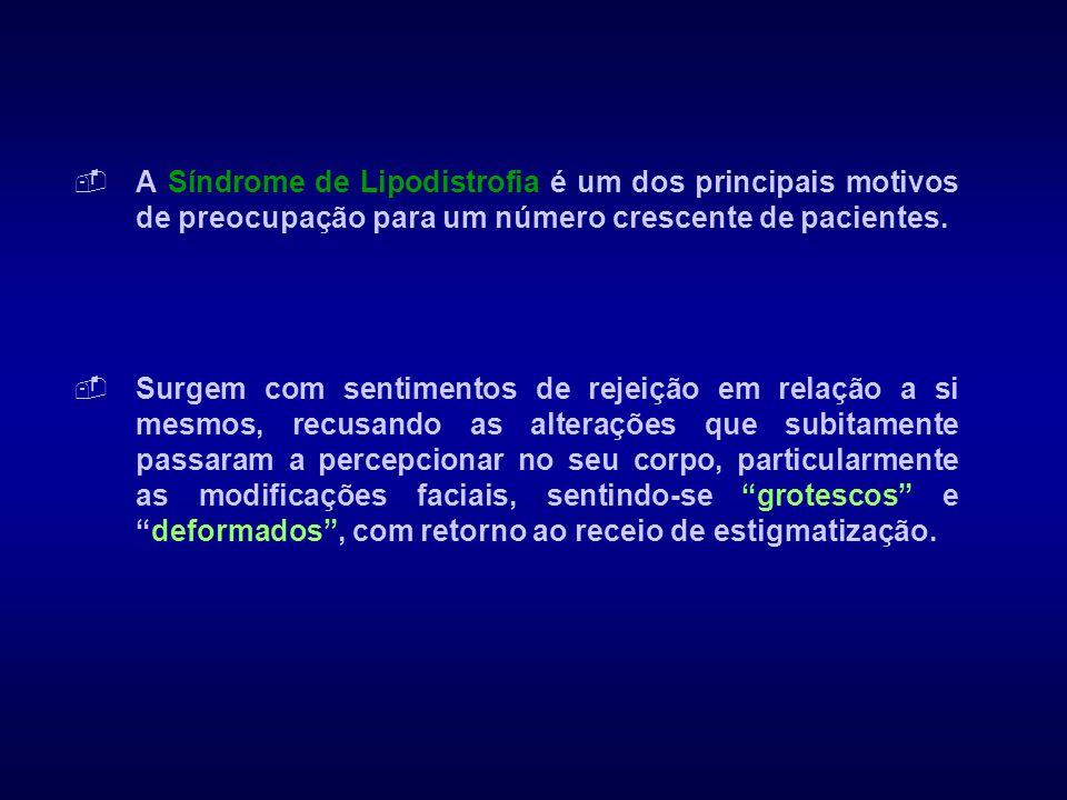 A Síndrome de Lipodistrofia é um dos principais motivos de preocupação para um número crescente de pacientes.