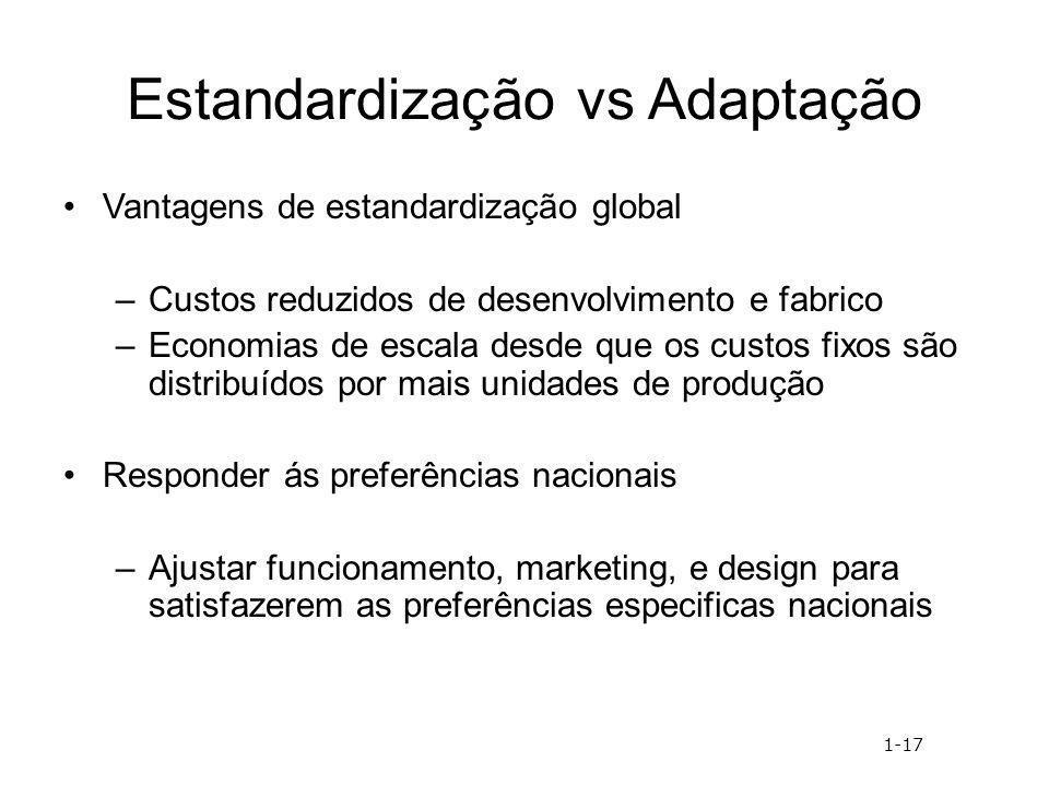 Estandardização vs Adaptação
