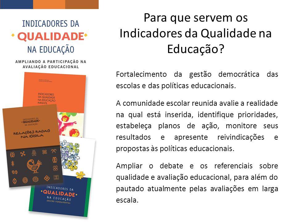 Para que servem os Indicadores da Qualidade na Educação
