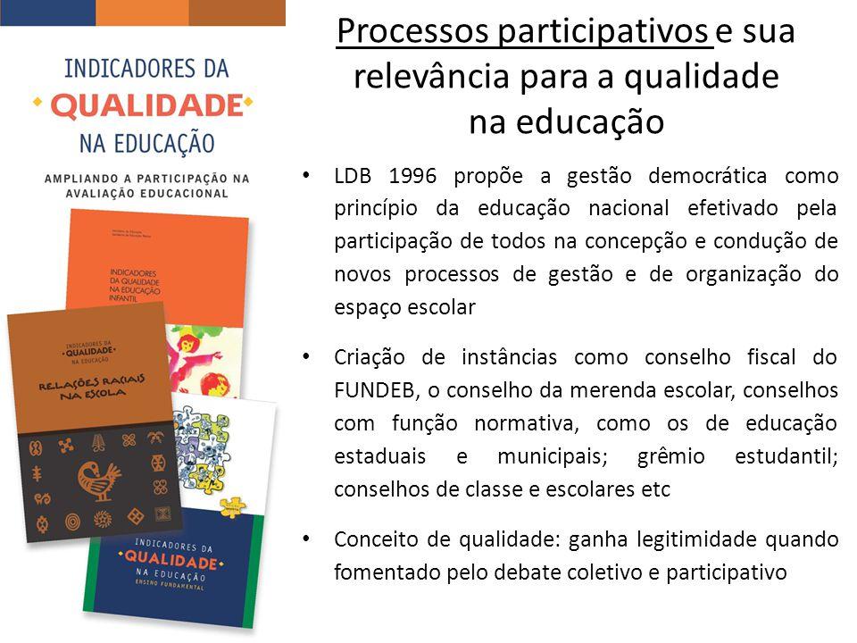 Processos participativos e sua relevância para a qualidade na educação