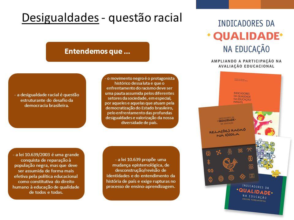 Desigualdades - questão racial