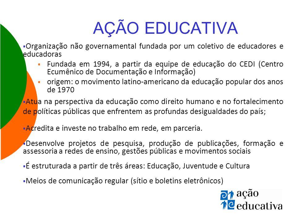AÇÃO EDUCATIVA Organização não governamental fundada por um coletivo de educadores e educadoras.