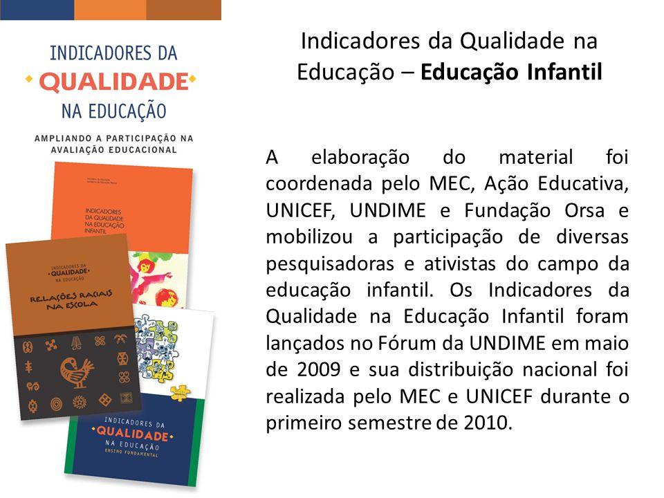 Indicadores da Qualidade na Educação – Educação Infantil