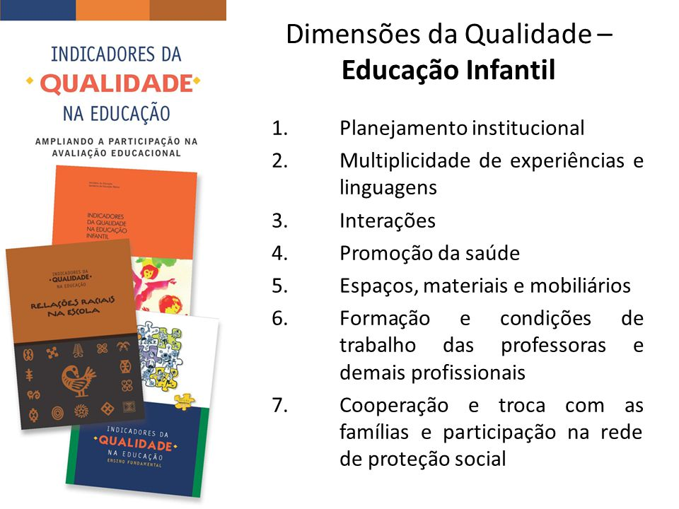 Dimensões da Qualidade – Educação Infantil