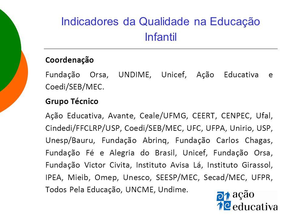 Indicadores da Qualidade na Educação Infantil