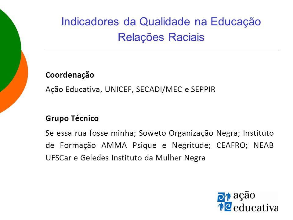 Indicadores da Qualidade na Educação Relações Raciais