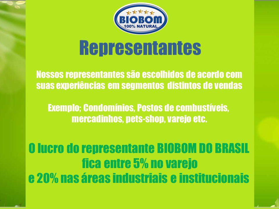 Representantes O lucro do representante BIOBOM DO BRASIL