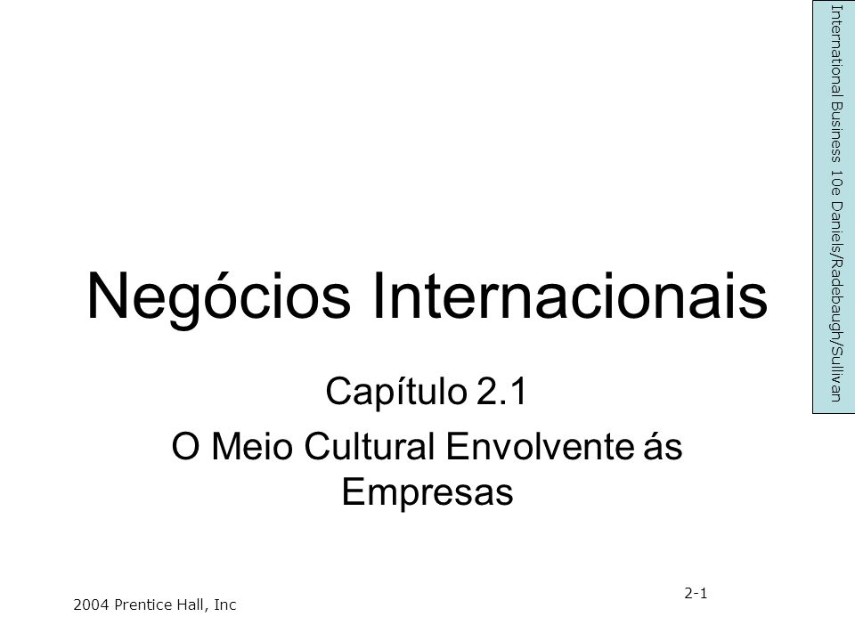 Negócios Internacionais