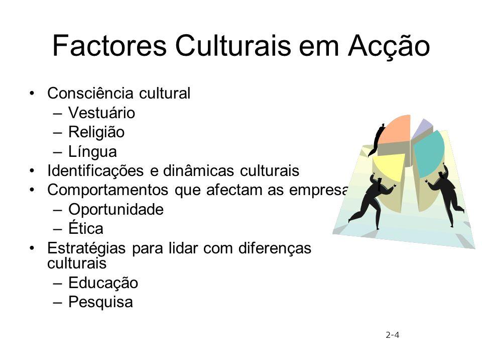 Factores Culturais em Acção