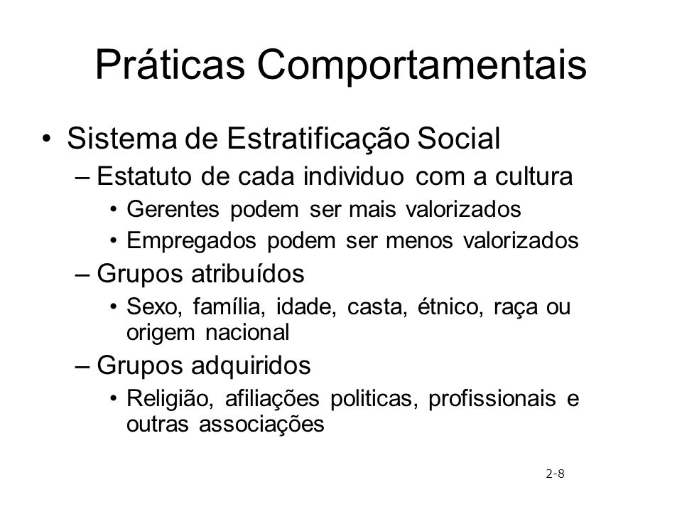 Práticas Comportamentais